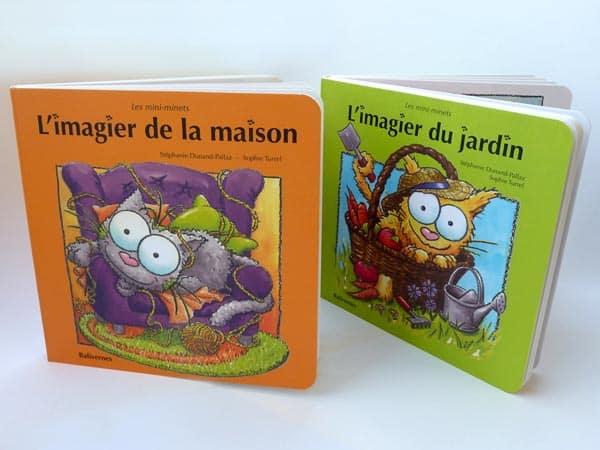 Les Mini-minets de la collection de livres cartonnés pour les Bébés