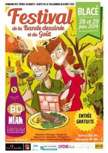 Affiche du festival BD Miam 2014