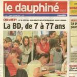 Une belle photo à la UNE du Dauphiné Libéré