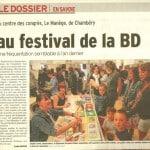 Article paru dans le Dauphiné Libéré de notre région
