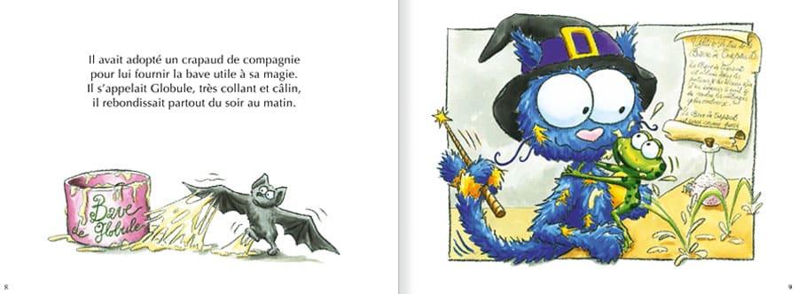 Découvrir l'album Le Chat Bracadabra. Lire les pages 4 et 5 de ce livre pour enfants