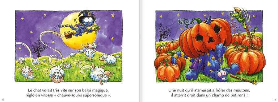 Découvrir l'album Le Chat Bracadabra. Lire les pages 6 et 7 de ce livre pour enfants