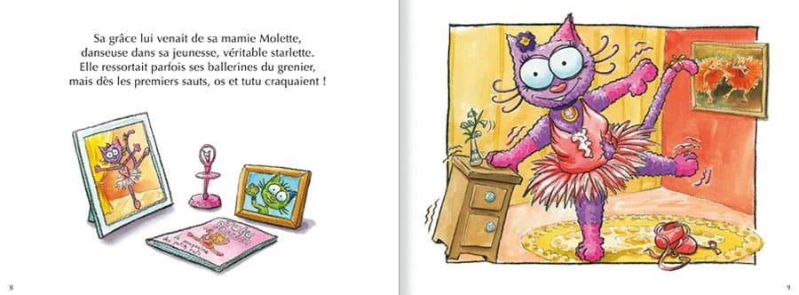 Extrait de l'album Le Chat Lala. Lire les pages 4 et 5 de ce livre pour enfants