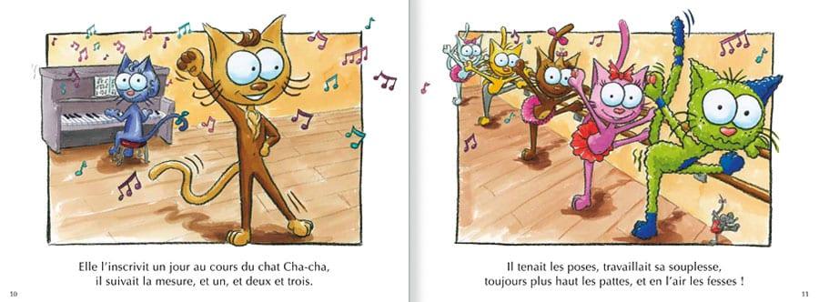 Extrait de l'album Le Chat Lala. Lire les pages 6 et 7 de ce livre pour enfants