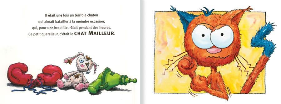Feuilleter un extrait de l'album Le Chat Mailleur. lire les pages 2 et 3 de ce livre pour enfants