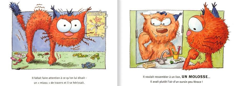 Feuilleter un extrait de l'album Le Chat Mailleur. lire les pages 4 et 5 de ce livre pour enfants