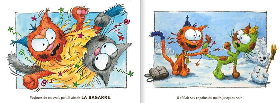 Feuilleter un extrait de l'album Le Chat Mailleur. lire les pages 6 et 7 de ce livre pour enfants