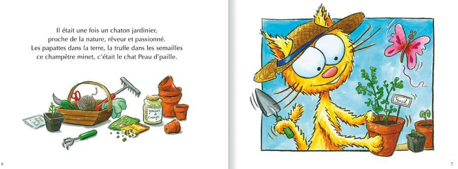 Extrait de l'album Le Chat Peau d'Paille. Lire les pages 2 et 3 de ce livre pour enfants
