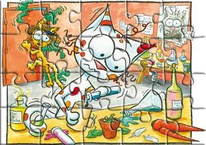 Puzzle le chat Perlipopette et le chat Peau d'paille