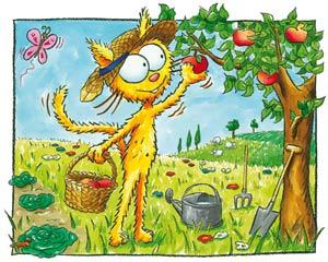 Puzzle le chat Peau d'paille et le pommier