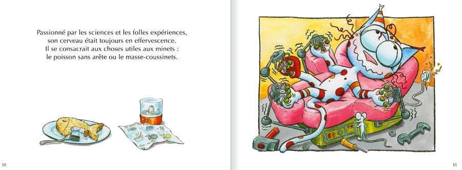 Extrait de l'album Le Chat Perlipopette. Lire les pages 6 et 7 de ce livre pour enfants