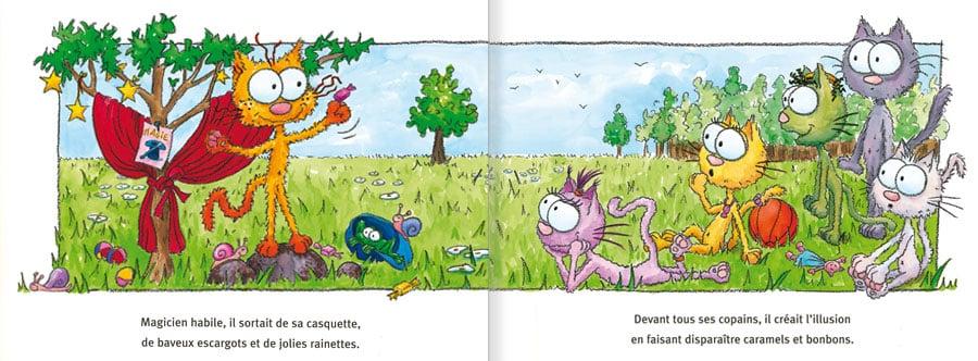 Feuilleter l'album Le Chat Piteau. Lire les pages 4 et 5 de ce livre pour enfants