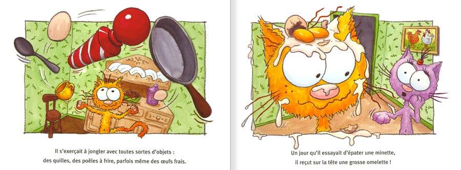 Feuilleter l'album Le Chat Piteau. Lire les pages 6 et 7 de ce livre pour enfants