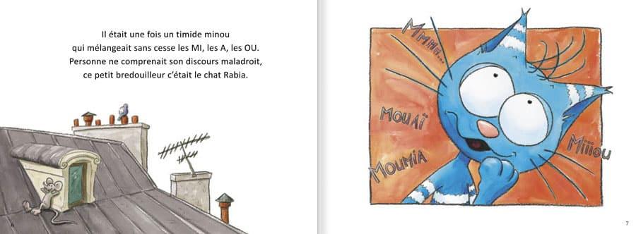 Extrait de l'album Le Chat Rabia. Lire les pages 2 et 3 de ce livre pour enfants
