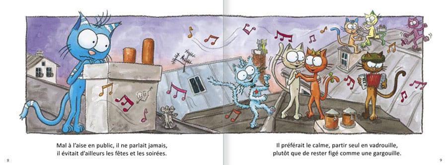 Extrait de l'album Le Chat Rabia. Lire les pages 4 et 5 de ce livre pour enfants