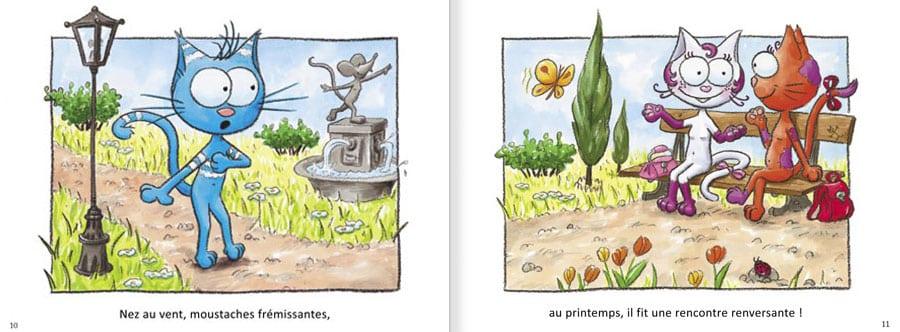 Extrait de l'album Le Chat Rabia. Lire les pages 6 et 7 de ce livre pour enfants