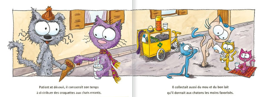 Extrait de l'album Le Chat Ritable. Lire les pages 4 et 5 de ce livre pour enfants