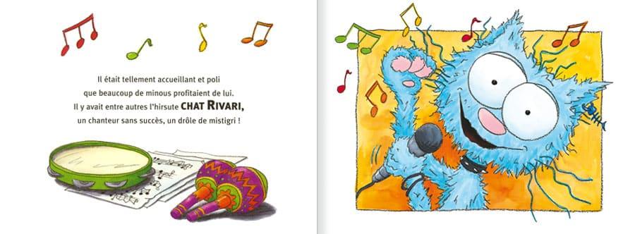 Extrait de l'album Le Chat Ritable. Lire les pages 6 et 7 de ce livre pour enfants