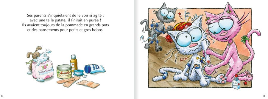 Feuilleter l'album Le Chat Seneige. Lire les pages 6 et 7 de ce livre pour enfants