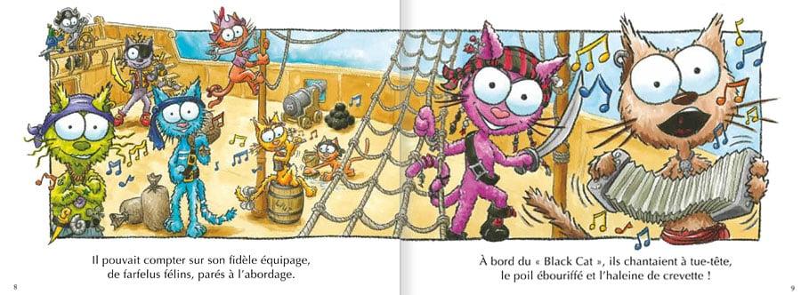 Feuilleter l'album Le Chat Viré. Lire les pages 4 et 5 de ce livre pour enfants