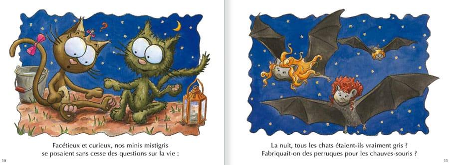 Découvrir l'album Les Chats Taignes. Lire les pages 6 et 7 de ce livre pour enfants