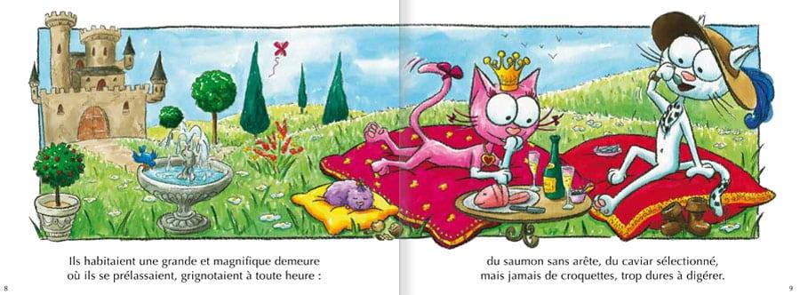 Découvrir l'album Les Chats Telains. Lire les pages 4 et 5 de ce livre pour enfants