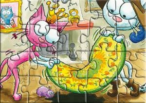 Puzzle les chats Telains cachent le trou du plancher