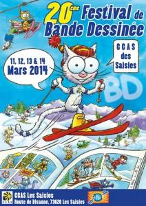 20ème festival de la bande dessinée des Saisies en Savoie