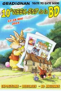 affiche du festival Week-end BD à Gradignan