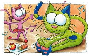 Le chat Lala danse