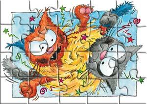Puzzle la bagarre du chat Mailleur