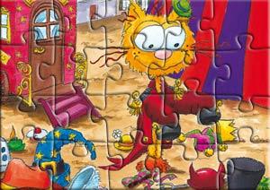 Puzzle le chat Piteau et les chapeaux