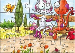 Puzzle les copines du chat Rabia