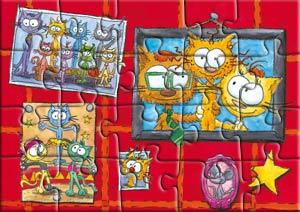 Puzzle la déco chez le chat Piteau