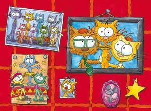 Puzzle le chat Piteau en famille