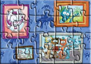 Puzzle le chat Rabia encadré