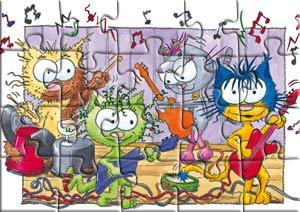 Puzzle la répétition des chats musiciens