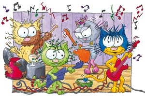 Puzzle le chat Ritable et les musiciens
