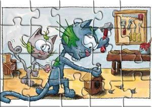Puzzle le chat Touillis bricole