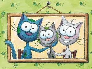 Puzzle le chat Touillis en famille
