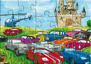 Puzzle les chats Telains et leur collection de voitures