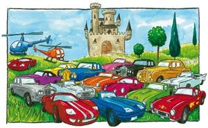Les chats Telains et leur parking et leur hélicoptère