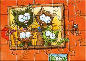 Puzzle chez les chats Taignes