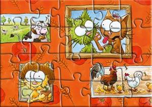 Puzzle les chats Taignes à la campagne