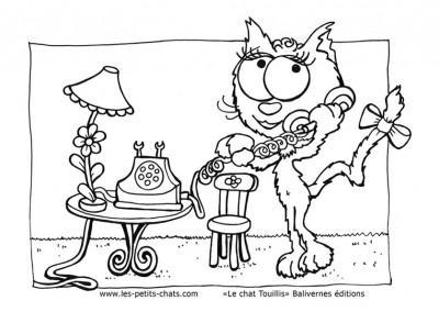 Coloriage de la jolie Lili dans le chat Touillis