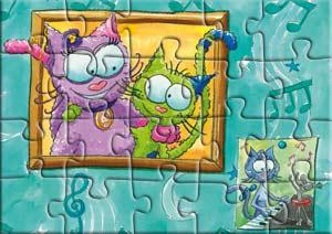 Puzzle le chat Lala et sa mamie Molette
