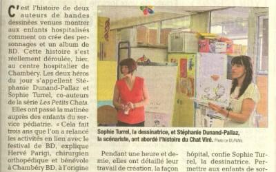 Visite d'enfants à l'hôpital de Chambéry