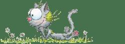 Le chat Touillis essaie de choisir un coloriage