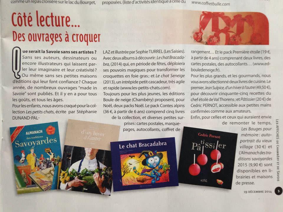 conseil de lecture les affiches de Chambéry Noël 2014