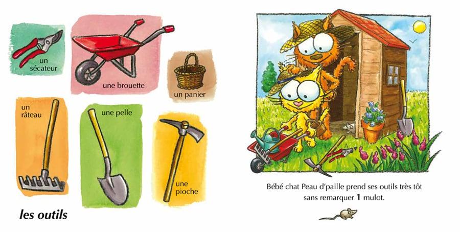 L 39 imagier du jardin un joli livre cartonn pour les b b s - Solution pour eloigner les chats du jardin ...